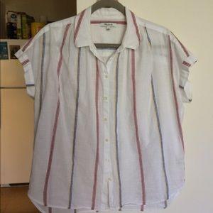madewell striped central shirt medium